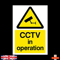 CCTV Security Camera Warning Sticker All Size A4 A5 A6 A7 Self Adhesive Stickers