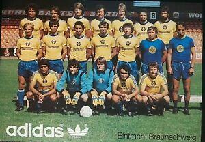 Eintracht Braunschweig Original Mannschaftskarte 1977 *Teamkarte*ADIDAS Breitner