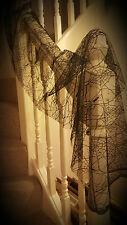 Halloween Web Creepy Cloth Table Portes Fenêtres decoratative Prop toiles d'araignée 150 cm