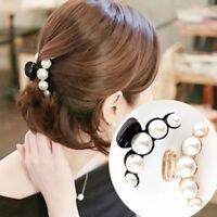 New Women Girls Hair Clip Pearl Hairpins Headwear Hair Claw Rhinestone Grips Pin