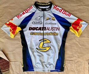 Cannondale Ducati Austin Red Bull Ben Bostrom cycling Jersey shirt, Mens Medium