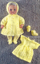 DOLLS CLOTHES KNITTING PATTERNS 12 INCH TEENY TINY TEARS PATTERNS (1627)
