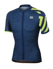 Sportful Prism Short Sleeve Cycling Jersey Blue / Yellow - size S