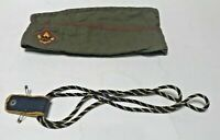 Vintage Wool Boy Scout Garrison Hat Olive Green w/ Red Piping and Shoulder Braid
