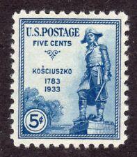 US # 734 (1934) 5c - MNH/OGnh Grade: Superb centering {Kosciuszko}