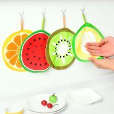2x Kitchen Hand Cloth Cartoon Fruit Printed Hanging Towel Children Handkerchief