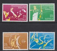 Australia 1982 : 12th Commonwealth Games, Brisbane, Set of 4 Decimal Stamps, MNH