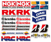 22  Sponsors Overall Racing Car Kart Go Karting Karting Decals Stickers
