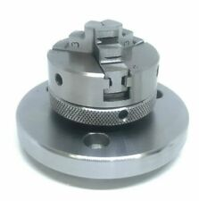 3 Jaw Self Centering Lathe Chuck 2 50mm With Backplate For 3 Amp 4 Rotary Table