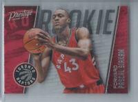 Pascal Siakam 2016-17 Panini Prestige Acetate Rookies #21 Rookie Toronto Raptors