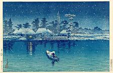 Ushibori Kawase Hasui by Watanabe Shozaburo A1 High Quality Art Print