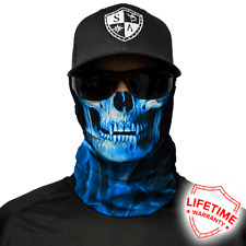 Blue Crow Skull Face Shield von SA Company *SOFORTVERSAND*