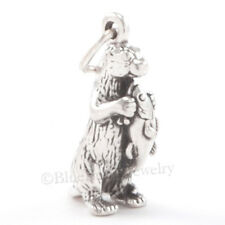 3D SEA OTTER Marine Ocean Animal Jewelry SOLID 925 Sterling Silver Pendant charm
