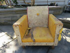 RARE look Child's armchair lounge chair 1950s vinyl, solid wood frame –project