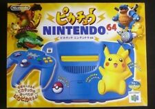 Pikachu Nintendo 64 N64 NUS-101 Game Console Pokemon Edition Blue & Yellow boxed