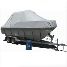 19-21 ft Jumbo Boat Cover 5.8-6.4M Straps Trailerable Marine Waterproof 20008002