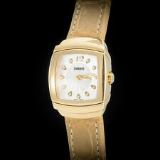 Damiani 18K YG Ego Carre Ladies' Watch with Original VVS Diamonds. Steel Buckle