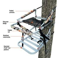 """Lightweight Deluxe Oversized Padded 27x20"""" Aluminum Climbing Tree Stand Hunting"""
