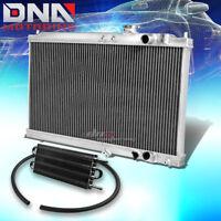 "INTEGRA DA DUAL CORE FULL ALUMINUM COOLING RADIATOR+X2 10/""BLACK SLIM FAN//FANS RS"