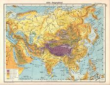 ASIA - OROGRAPHICAL 1905 Robertson & Bartholomew ANTIQUE MAP