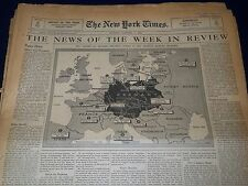 1939 NY TIMES SUNDAY NEWSPAPER NEWS OF THE WEEK IN REVIEW LOT OF 62 - NTL 55