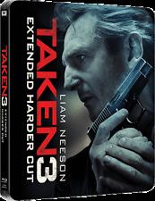 TAKEN 3 Blu ray Steelbook  RARE MINT UK SET OOP