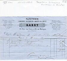 Paris VII ème 25 Rue Las Cases - Papeterie Librairie  Comtesse Nicholaï de 1867