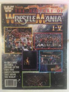 WWF Magazine 1990 - The History of Wrestlemania I-V Hulk Hogan WWE RARE! Warrior