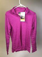 5f4fbab1c84 ICEBREAKER Women's 100% Merino Wool OASIS 200 Zip LS Shirt - NEW WITH TAGS!