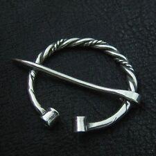 Medieval. Penannular Brooch. Sca. Silver fibula. Viking brooch. Reenactment.