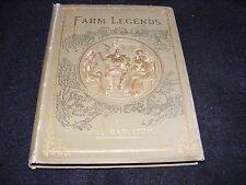 Decorative Cover Antique Book FARM LEGENDS By Will Carleton HARPER & BROS 1875