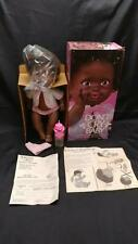 AA AFRICAN AMERICAN BLACK HAIR Vintage 1976 Hasbro Don't Cry Baby doll & box HTF