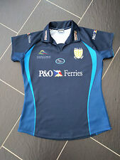 HULL FC BLACK & WHITE ARMY RUGBY LADIES BLUE SHIRT SIZE 14
