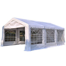 4M x 6M Gazebo Garden Marquee Canopy Party Car Shelter Garage Tent Carport White
