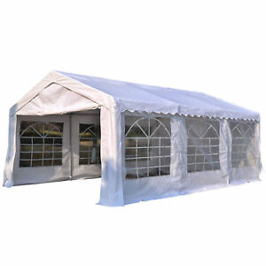 Outsunny 6m Gazebo Garden Marquee Canopy Party Carport Shelter Garage Tent White