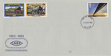 25 MAY 1983 GREAT CENTRAL RAILWAY LNER COVER WITH 2 RAILWAY LETTER STAMPS
