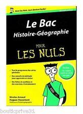 Livre -  Bac Histoire-Géographie  Pour Les Nuls
