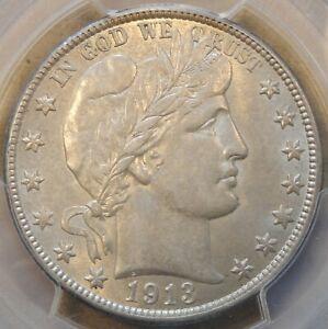 1913-D Barber Half Dollar 50c PCGS Certified AU58