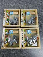 NEW Lot of 4 #Stikbot Safari Pets - Hippo Elephant Rhino Lion Gray Free Shipping