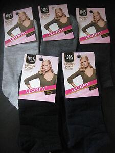 Ladies cotton blend trainer socks/liners sizes 3-5, 5-7 Plain by Leonfit