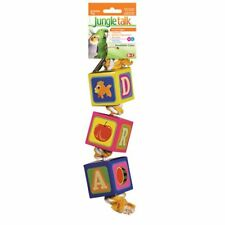 JUNGLE TALK AVIAN BIRD TOY ROPE & SHRED CARDBOARD BLOCKS. FREE SHIP IN THE USA