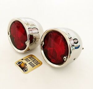1955-59 Chevy Truck Tail Lights - Polished S/S- Hot Rod- Custom-1 Pair