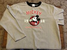 Vintage Disney Mickey Mouse Fleece Sweatshirt. Large L Mens