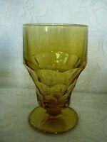 Vintage ANCHOR HOCKING Amber/Yellow Georgian Style Goblet