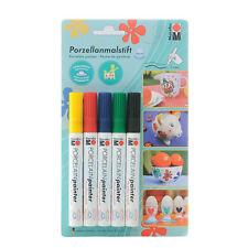 Marabu Porcelain Painter Assortment - Markers for Ceramic - 5 x Basic Colours