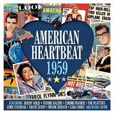 AMERICAN HEARTBEAT 1959 (NEW SEALED 2CD) Elvis Presley-Buddy Holly-Chuck Berry