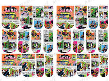 24 WATER SLIDE NAIL ART DECALS * VINTAGE MARVEL COMIC BATMAN * FULL NAIL COVER