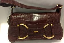 "XOXO See & Be Scene Brown Crocodile Design Small Vinyl Hobo  Handbag 7""x4""x13"""