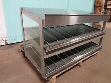 """""""Hatco"""" Commercial H.D. 2 Tier Heated 52""""W Lighted Display Case / Merchandiser"""