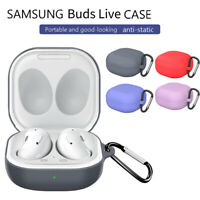 For Samsung Galaxy Buds Live Case | Hinge Silicone Cover with Carabiner AU